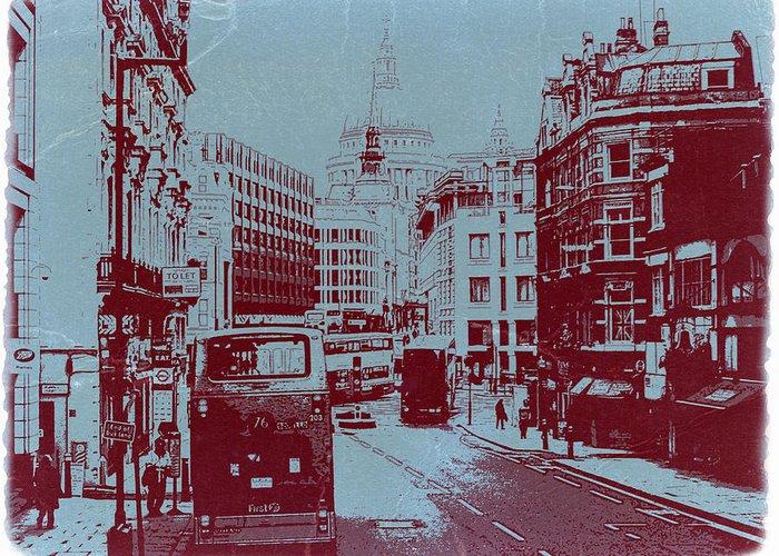 London Fleet Street Greeting Card featuring the photograph London Fleet Street by Naxart Studio