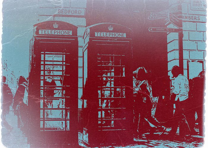 London Telephone Booth Greeting Card featuring the photograph London Telephone Booth by Naxart Studio