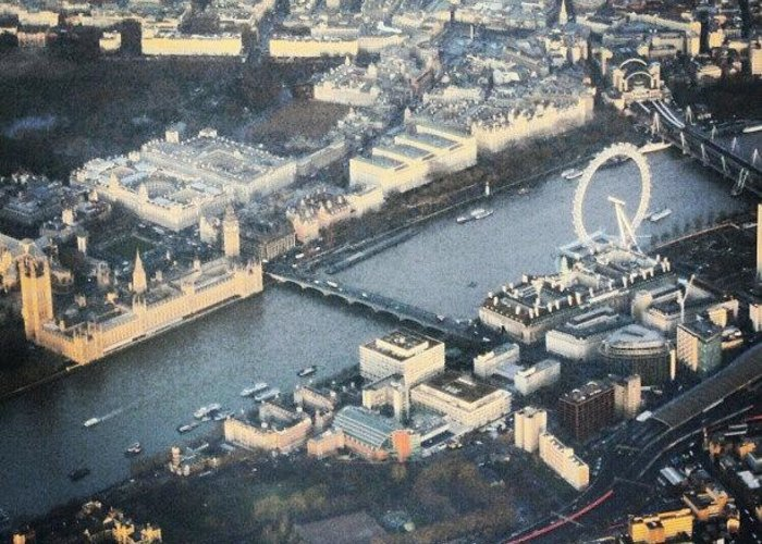 Picture Greeting Card featuring the photograph #londoneye #bigben #thetimes #river by Abdelrahman Alawwad