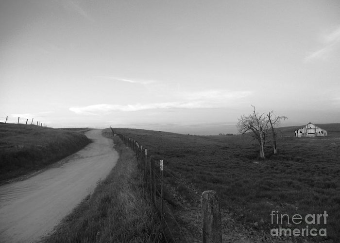 B&w Greeting Card featuring the photograph Lonely Road II by Dan Julien
