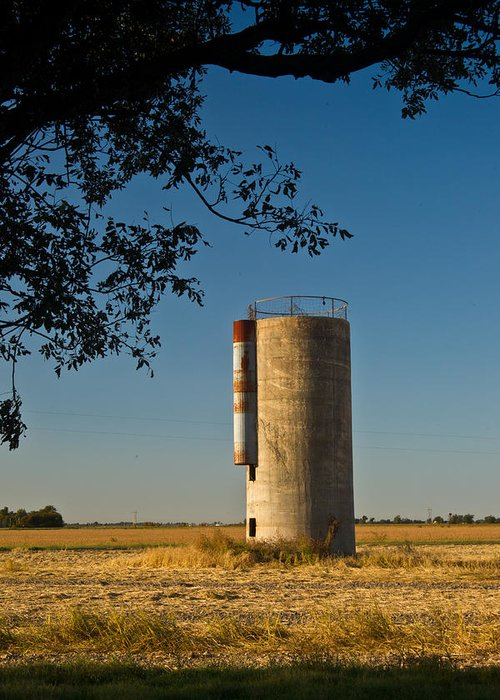 Silo Greeting Card featuring the photograph Lonely Silo 2 by Douglas Barnett