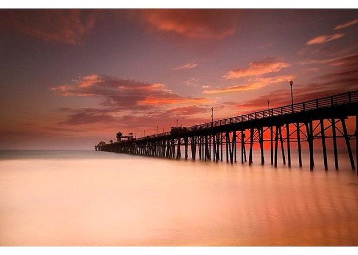 Greeting Card featuring the photograph Long Exposure (180 Seconds) At The by Larry Marshall