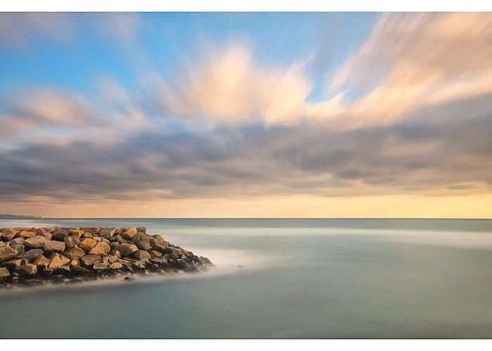 Greeting Card featuring the photograph Long Exposure Shot From The North Ponto by Larry Marshall