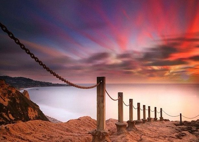 Greeting Card featuring the photograph Long Exposure Sunset Shot From The by Larry Marshall