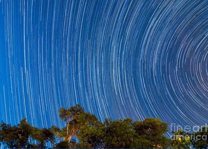 Stars Greeting Card featuring the photograph Long Trails by Niko Monkkonen