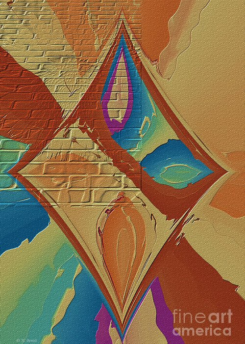 Abstract Greeting Card featuring the photograph Look Behind The Brick Wall by Deborah Benoit