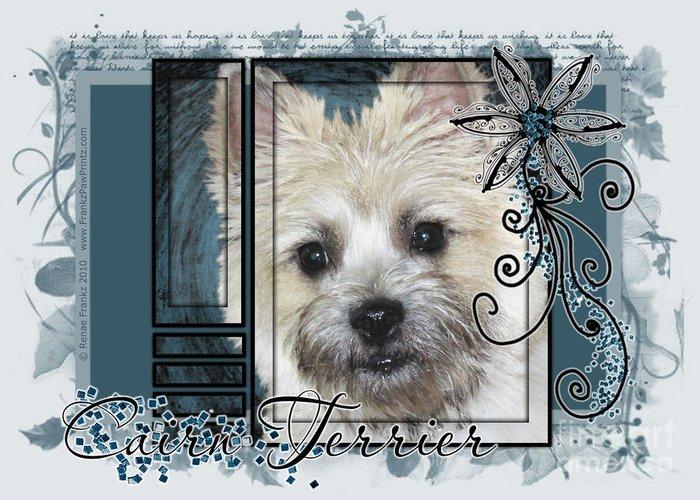 Cairn Terrier Greeting Card featuring the digital art Look In Her Eyes - Cairn Terrier by Renae Laughner