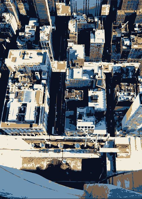 Empire State Building Greeting Card featuring the photograph Looking Down Color 6 by Scott Kelley
