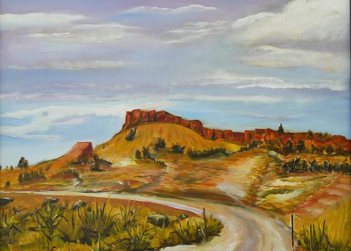 Desert Greeting Card featuring the painting Looking For The Hoodoos by Mark Malone