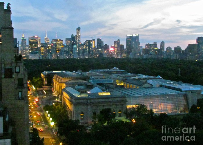 Skyline Greeting Card featuring the photograph Looking South Nyc by Randi Shenkman