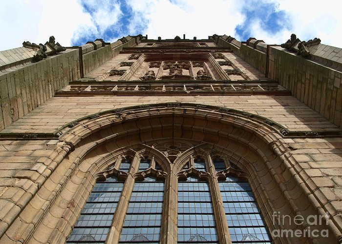 Cathedral Greeting Card featuring the photograph Looking up to God by Steev Stamford
