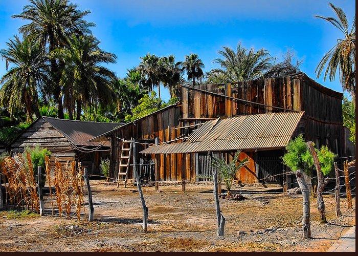 Baja California Greeting Card featuring the photograph Loreto Barn by Scott Massey