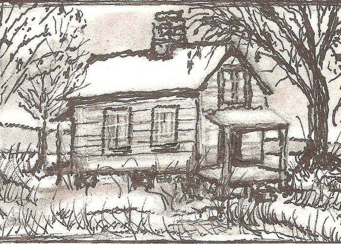 Landscape Greeting Card featuring the drawing Lost Conversations by Melonie King
