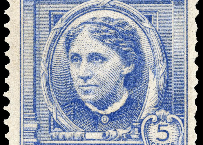 1940 Greeting Card featuring the photograph Louisa May Alcott (1832-1888) by Granger
