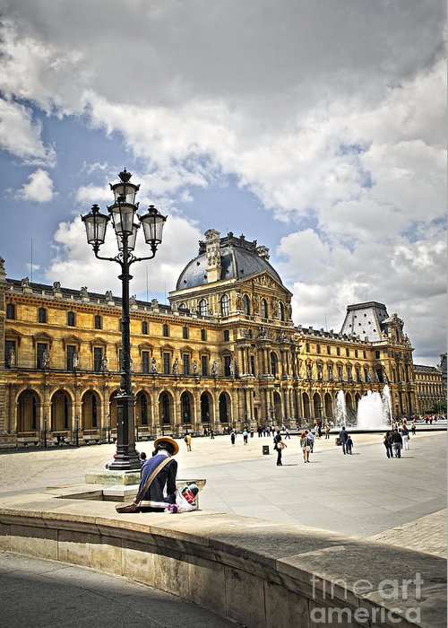 Louvre Greeting Card featuring the photograph Louvre Museum by Elena Elisseeva