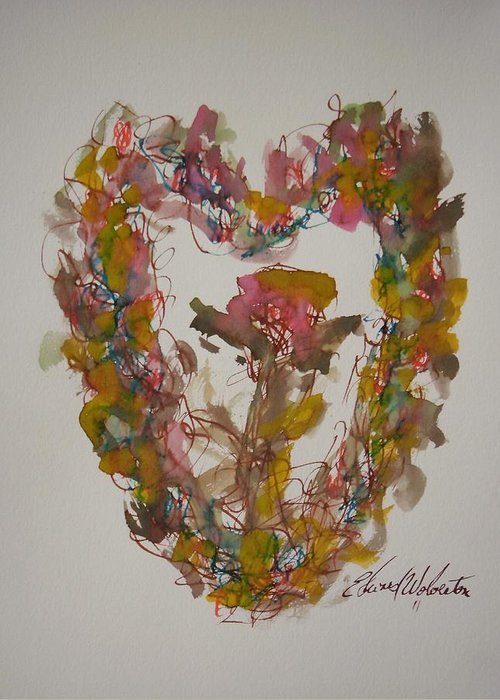 Love Greeting Card featuring the painting Love Heart by Edward Wolverton