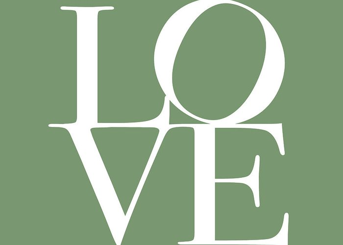 Love Greeting Card featuring the digital art Love In Green by Michael Tompsett