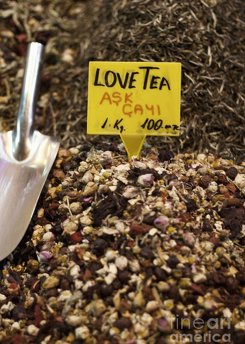 Love Greeting Card featuring the photograph Love Tea by Leslie Leda
