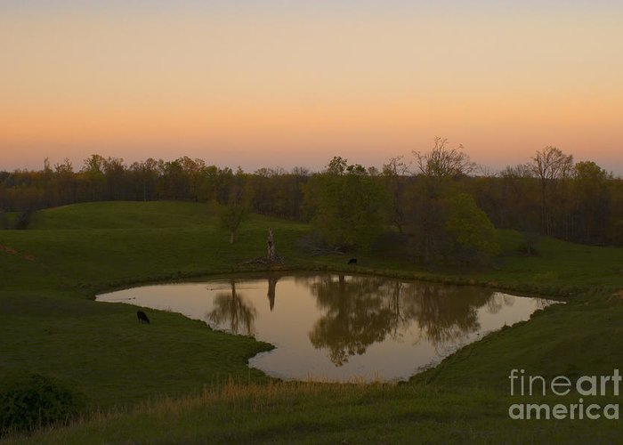Farm House Greeting Card featuring the photograph Loving The Sunset by Cris Hayes