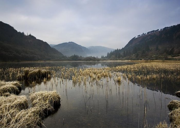 County Wicklow Greeting Card featuring the photograph Lower Lake, Glendalough, County by Peter McCabe