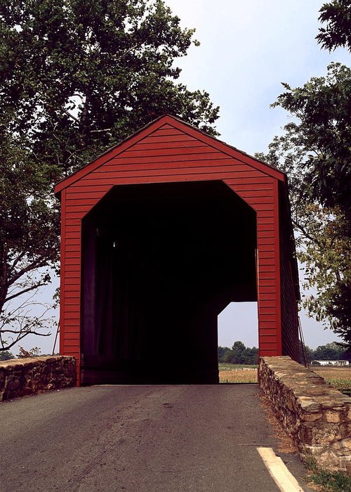 Loy's Station Covered Bridge Greeting Card featuring the photograph Loy's Station Covered Bridge by Sally Weigand