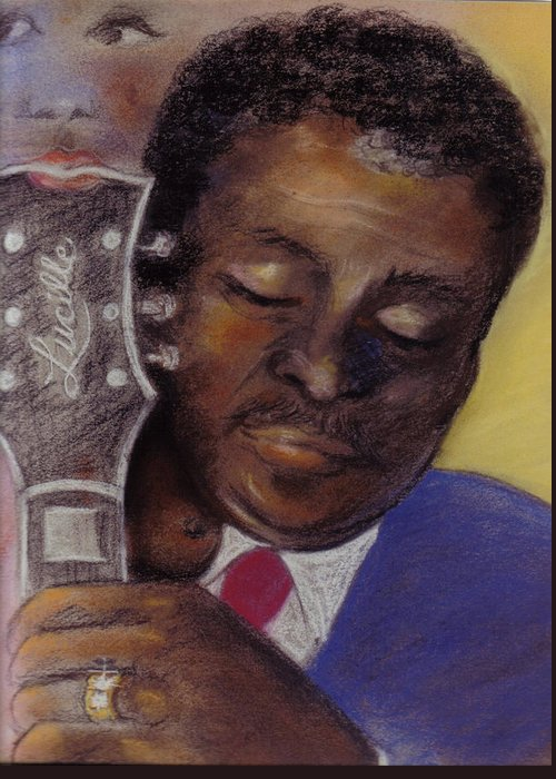 Music Greeting Card featuring the pastel Lucille by Carole Joyce