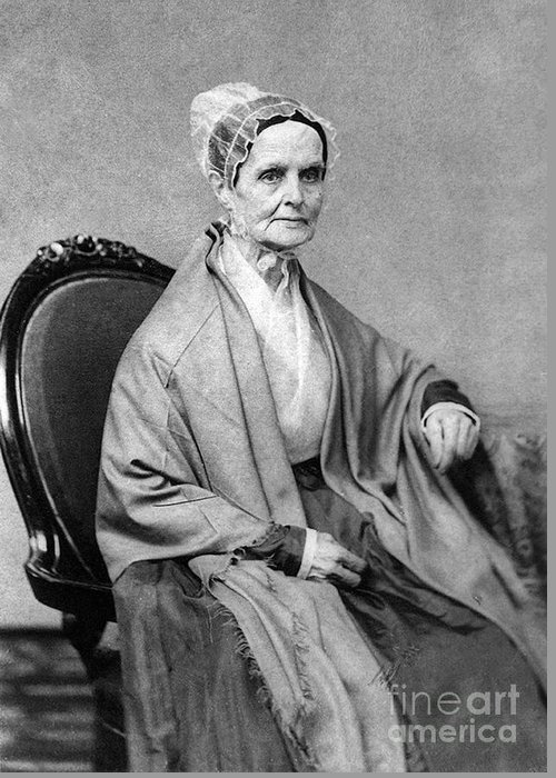 History Greeting Card featuring the photograph Lucretia Coffin Mott, American Activist by Photo Researchers