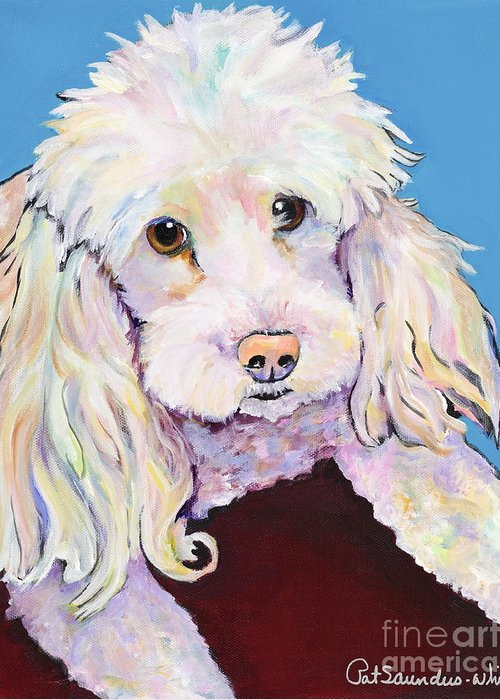 Dogs Greeting Card featuring the painting Lucy by Pat Saunders-White