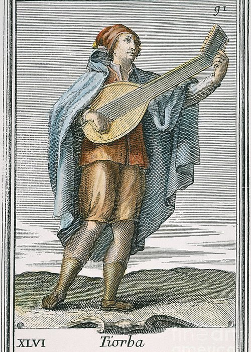 1723 Greeting Card featuring the photograph Lute, 1723 by Granger