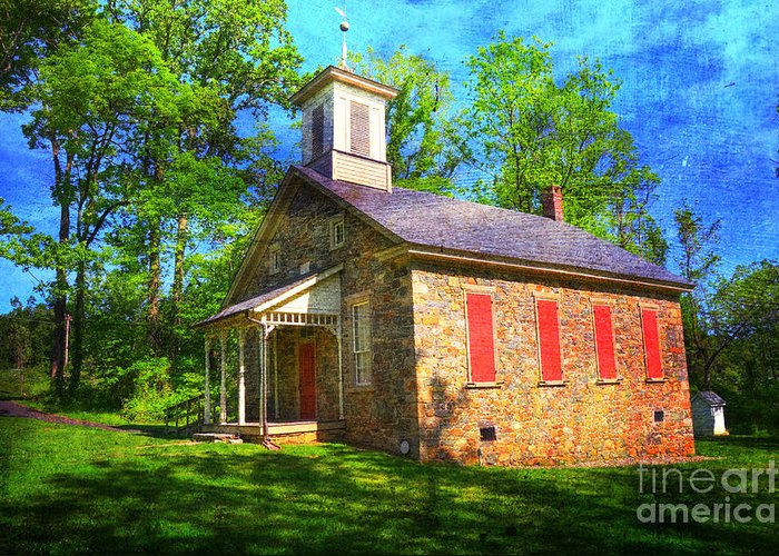 Lutz-franklin Greeting Card featuring the photograph Lutz-franklin Schoolhouse by Paul Ward