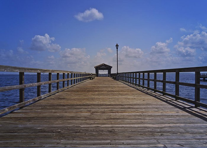 Pier Greeting Card featuring the photograph Macdill Fishing Pier by Lawrence Ott