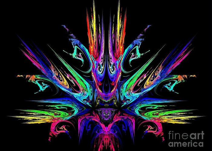 Fire Greeting Card featuring the digital art Magic Fire by Klara Acel