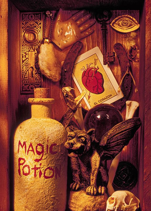 Magic Greeting Card featuring the photograph Magic Things by Garry Gay
