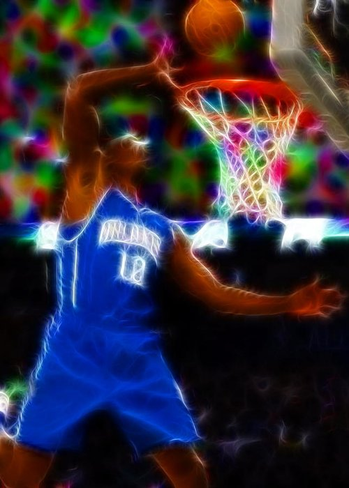 Dwight Howard Greeting Card featuring the painting Magical Dwight Howard by Paul Van Scott