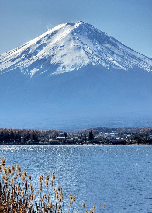 Mountain Greeting Card featuring the photograph Magnificent Mt Fuji by Kean Poh Chua