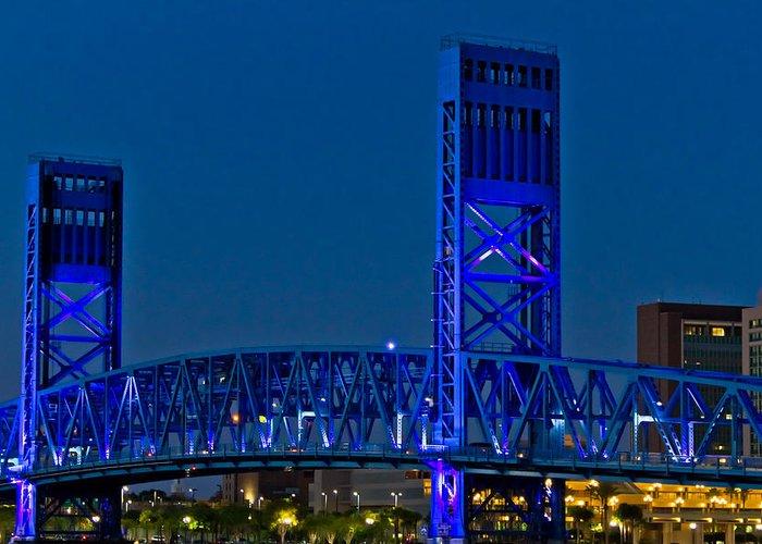 Florida Greeting Card featuring the photograph Main Street Bridge Jacksonville by Debra and Dave Vanderlaan