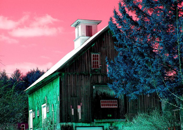Barns Greeting Card featuring the photograph Maine Barn by Marie Jamieson