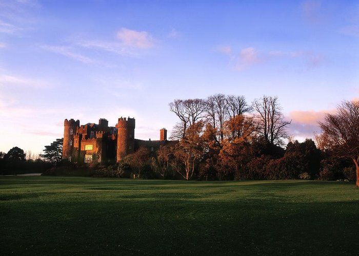 Back Lit Greeting Card featuring the photograph Malahide Castle, Co Fingal, Ireland by The Irish Image Collection