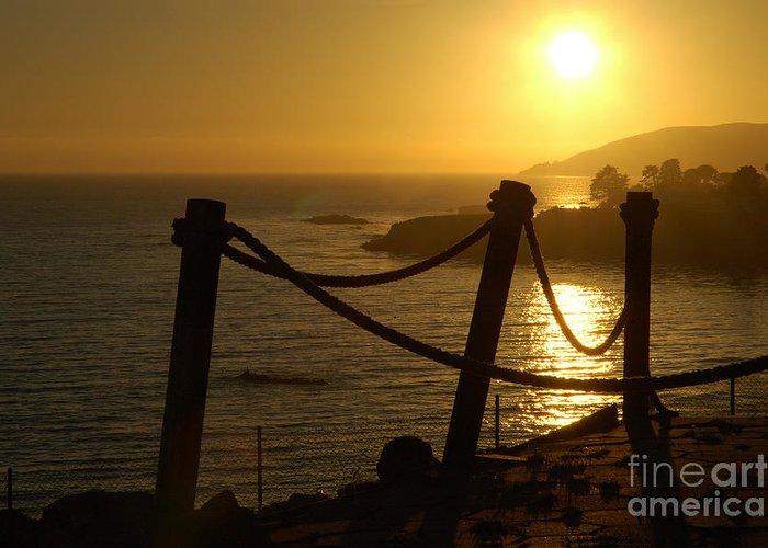 Malibu Greeting Card featuring the photograph Malibu Sunset by Micah May