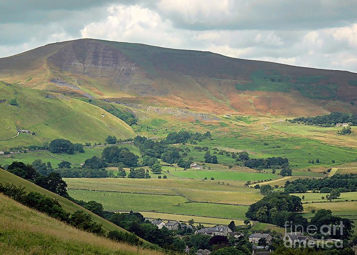 Mam Tor Greeting Card featuring the photograph Mam Tor - Derbyshire by Graham Taylor