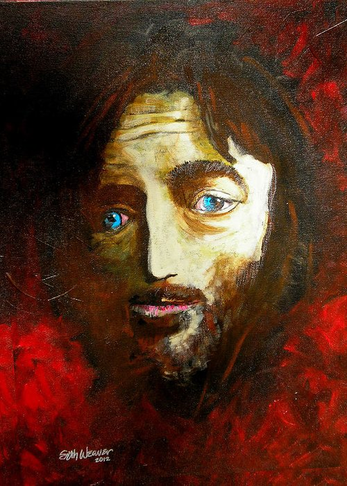 Man From Nazareth Greeting Card featuring the painting Man From Nazareth by Seth Weaver