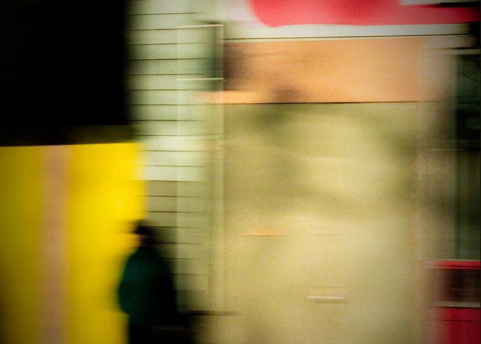 Man Greeting Card featuring the photograph Man In The Shadows by Emilio Lovisa