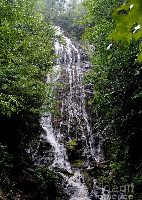 North Carolina Greeting Card featuring the photograph Mango Falls by Randy Edwards