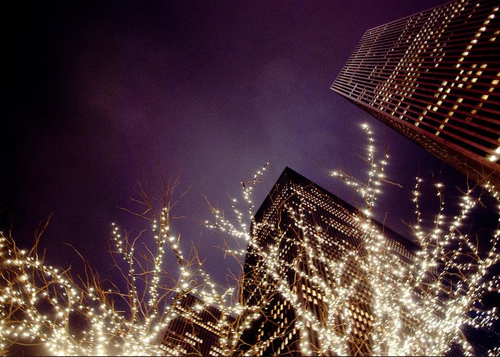 New York Greeting Card featuring the photograph Manhattan Lights by Heidi Reyher