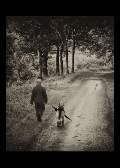 Man's Best Friend Greeting Card featuring the photograph Man's Best Friend by Rebecca Samler