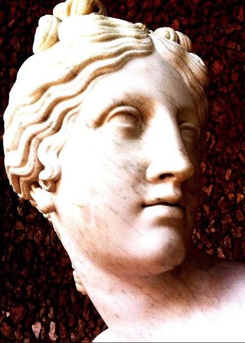 Roman Art Greeting Card featuring the photograph Marble Sculpture by Paul Washington