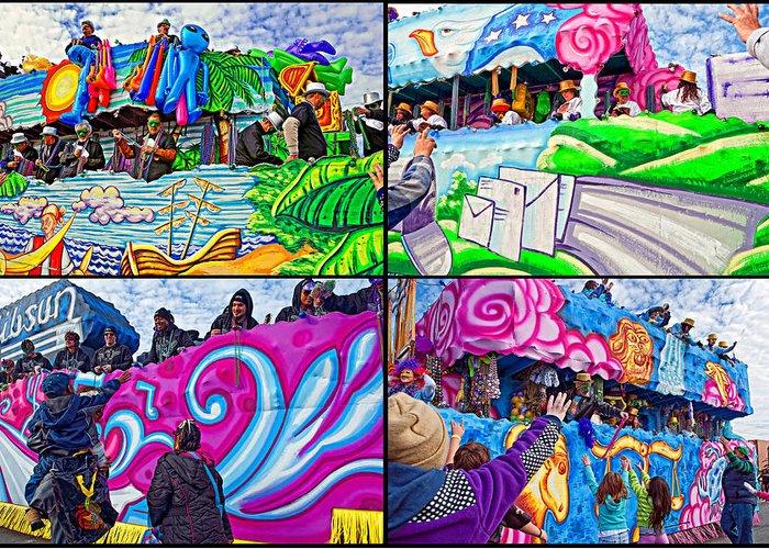 New Orleans Greeting Card featuring the photograph Mardi Gras Fun by Steve Harrington