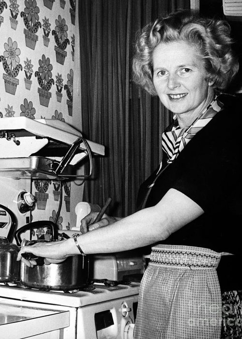 1975 Greeting Card featuring the photograph Margaret Thatcher (1925- ) by Granger