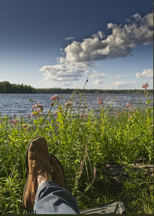 Borden Lake Greeting Card featuring the photograph Margarita Time by Gary Eason