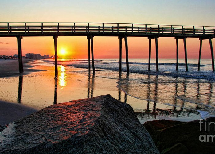 Landscape Greeting Card featuring the photograph Margate Sunrise by John Loreaux